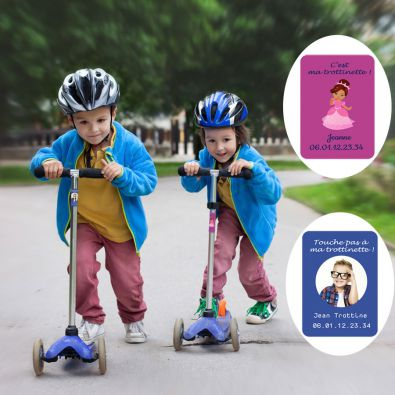 Scooter Name Stickers