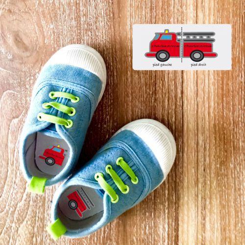 Stick Chaussures Maternelle Garçon Camion Pompiers