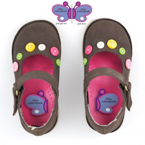 Stick-on Preschool Girl Shoes Labels